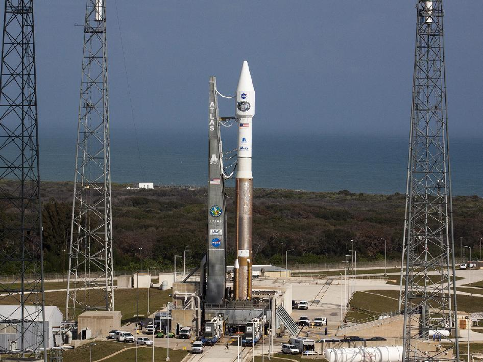 Atlas V at the launch pad.