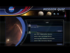 Mission Quiz question screen