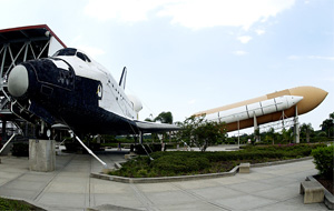 Full-size replica of Space Shuttle orbiter