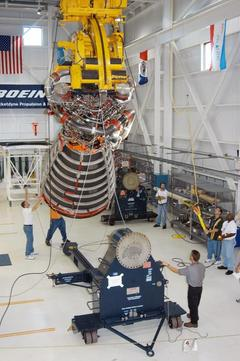 first SSME assembled at KSC
