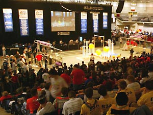 FIRST robotics competition in Richmond, Va.
