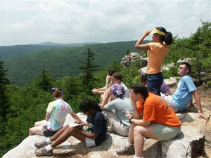 Student delegates at the National Youth Science Camp in West Virginia.