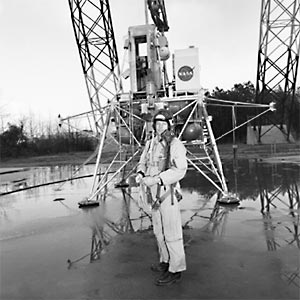 Neil Armstrong, first person on the moon, at Langley Lunar