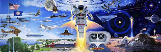 Expanding the Frontiers of Flight, by Robert McCall