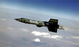 An X-15 in flight