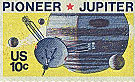 U.S. Postal Service stamp commemorating the Pioneer 11 mission.