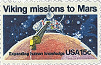 U.S. Postal stamp commemorating the viking mission.