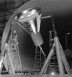 The Mercury space capsule in the FST in January 1959