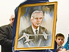The portrait of Richard Whitcomb that will hang in the First Flight Shrine at Kill Devil Hill, N.C.
