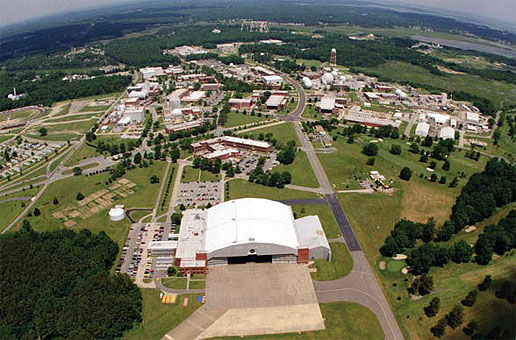Aerial view of NASA Langley