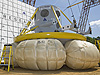 NASA engineers prepare to lift the Orion test article for a drop test