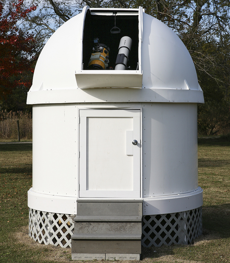 joe zawodny has built an observatory in the backyard of his home in