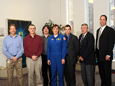 2009 Silver Snoopy Awardees with Astronaut Heidemarie Stefanyshyn-Piper.