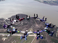 Steve Riddick's 200th skydive.