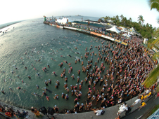 Ironman championship start in Kona, Hawaii.