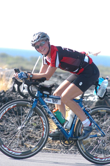 Sharon Rodier in Ironman championship.