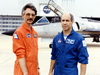Research pilot Phil Brown (right) and engineer Bruce Fisher (left).