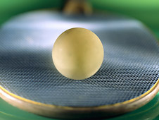 Ping-pong ball and paddle