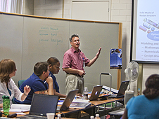 Eight teachers attended a pilot internship program about simulation-based aerospace engineering