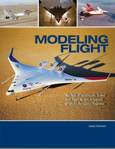 Modeling Flight cover. The cover image has various images of aircraft in flight, in a wind tunnel and on the desert floor.