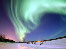 Northern Lights above Bear Lake, Alaska