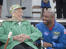 Katherine Johnson and Leland Melvin.