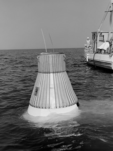 Mercury capsule model floatation test