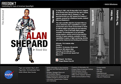 Freedom 7 interactive feature