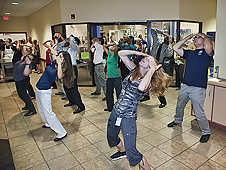 Flash mob at NASA Langley's cafeteria.