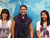 JPL's DEVELOP team won the Summer 2011 Earthzine Poster Contest -- (L to R): Caitlin Kontgis, Asya Hollins, and Katrina Laygo