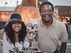 Maya and Mike Smith with their robot, Doborg.