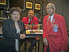 Janet Sellars, Claude Vann III and Grant Williams.