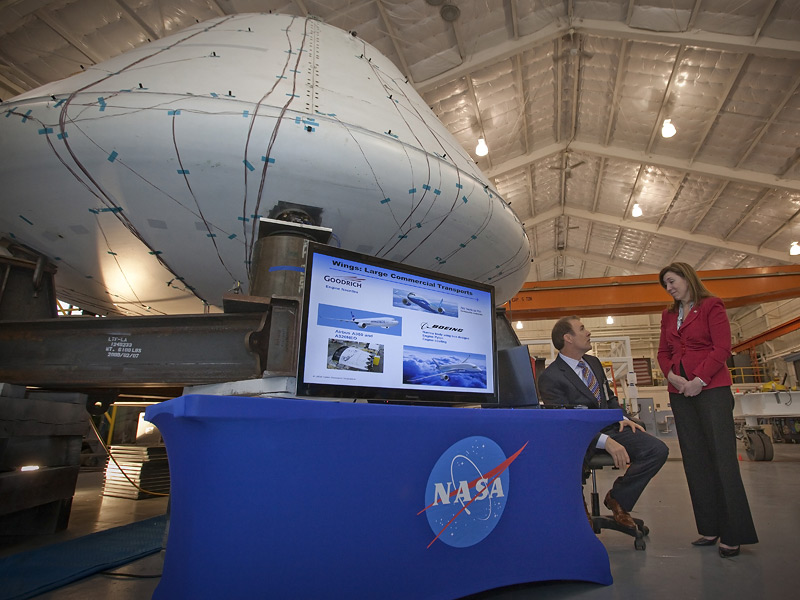 NASA Deputy Administrator Lori Garver (right) with Craig Collier