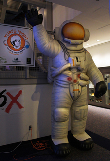 Inflatable astronaut.
