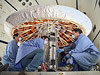 Engineers check out IRVE-3 after a successful inflation system test