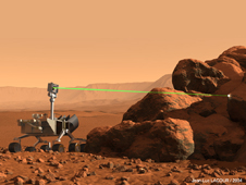 Artist rendering of ChemCam laser on Curiosity.