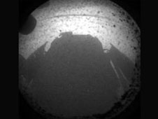 Shadow of Curiosity on Mars.