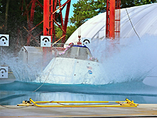 Vertical drop test for Orion MPCV.