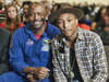 Leland Melvin and Pharrell Williams.