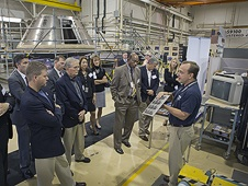 VIP guests at Langley's Advanced Manufacturing facility.