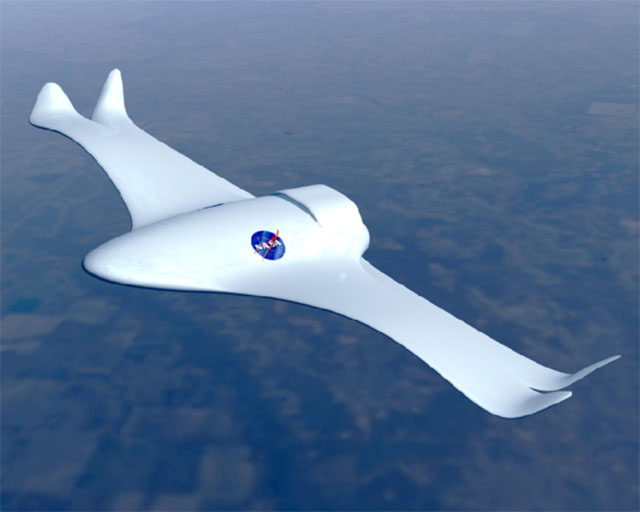 Artist Rendering of New Aircraft in Flight