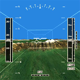 Sample synthetic vision display graphic