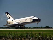 Space Shuttle Columbia landing.