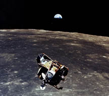 Lunar module during rendezvous