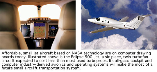 Photo of advanced small aircraft based on NASA technology