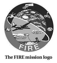 The FIRE mission logo