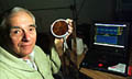 Langley researcher Allan Zuckerwar with the Fetal Heart Monitor