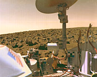 Viking 1 on the surface of Mars