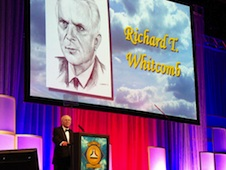 Richard Whitcomb inducted into Hall of Fame.