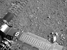 Curiosity rover on Mars.